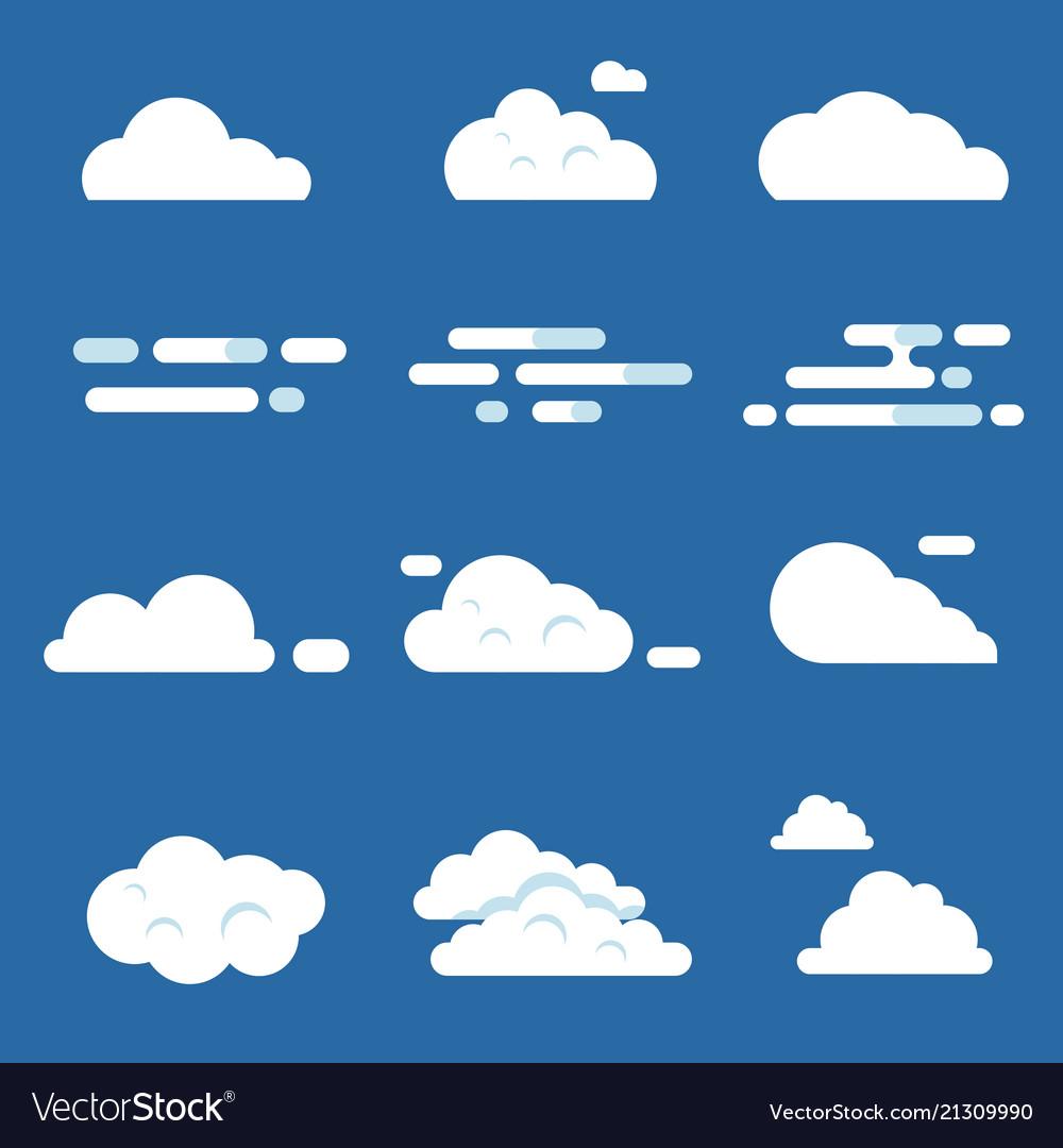 Flat various clouds