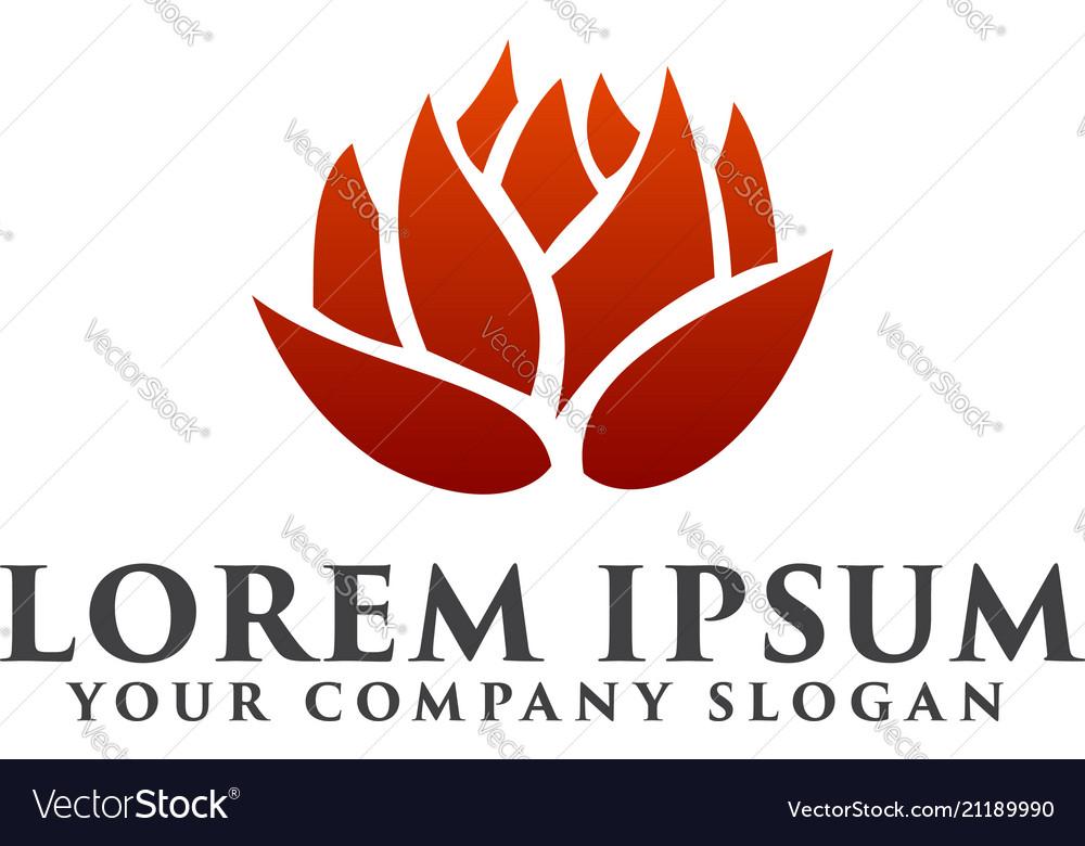 Flower logo environmental and green landscaping