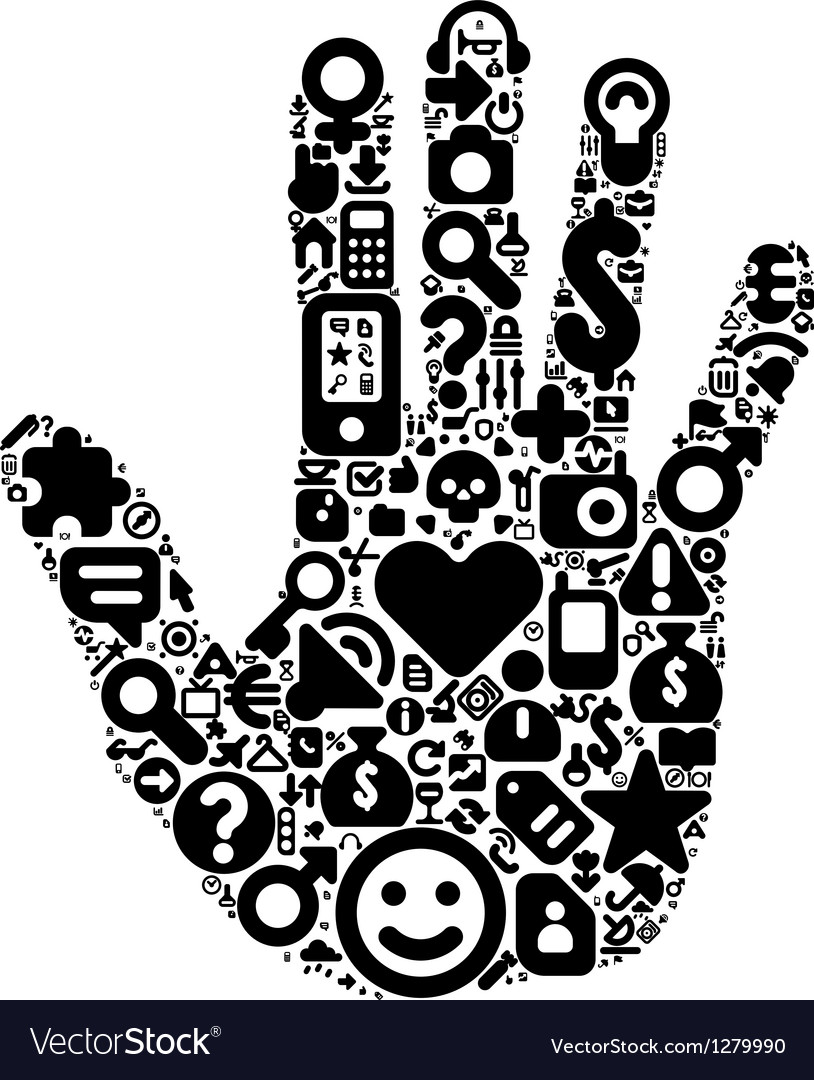 Human hand concept vector image