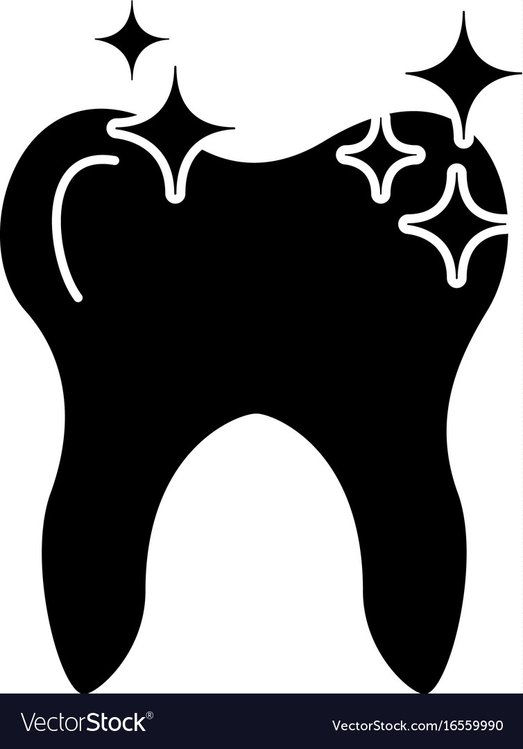 Human tooth with stars
