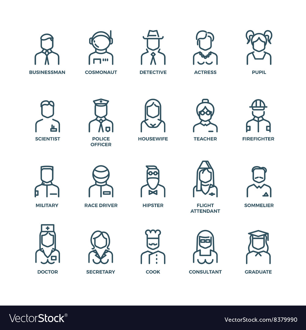 People avatars characters staff professions