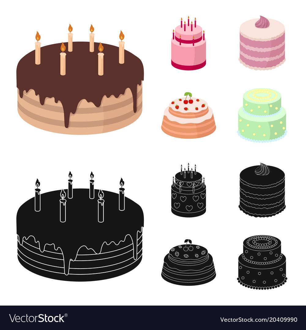 Strange Sweetness Dessert Cream Treacle Cakes Country Vector Image Funny Birthday Cards Online Elaedamsfinfo