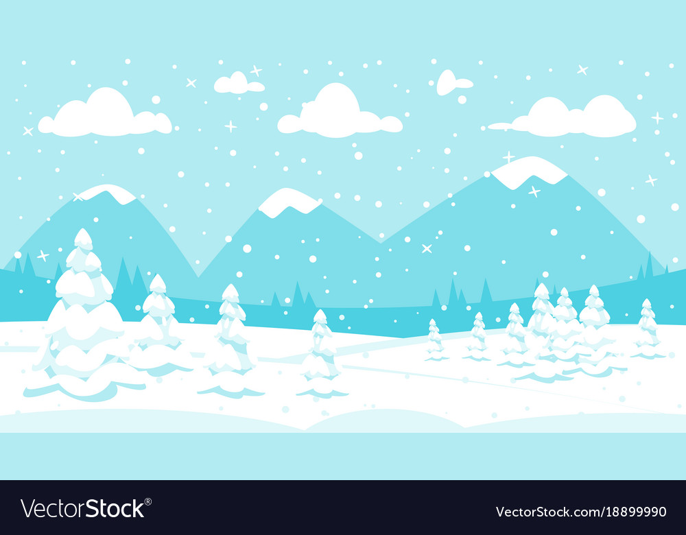 Winter background in snowfall