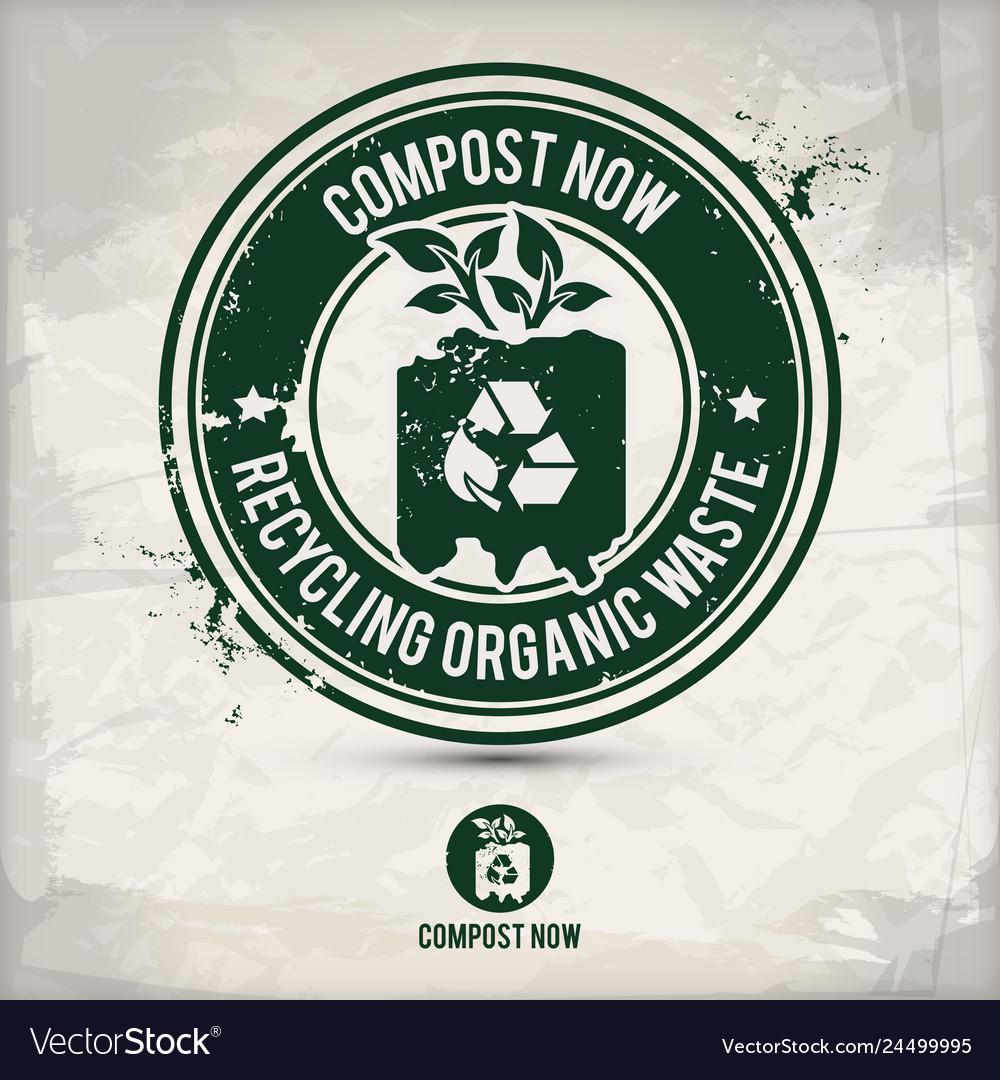Alternative composting stamp