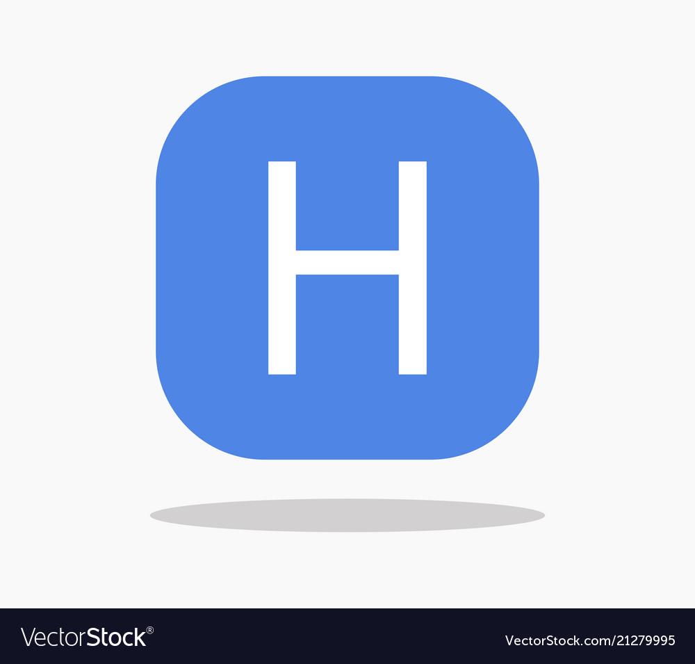 Hospital Symbol Icon Royalty Free Vector Image
