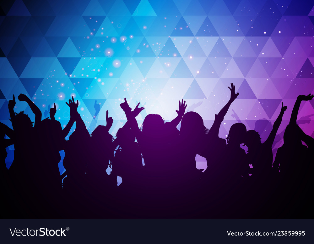 Party young people crowd dancing background