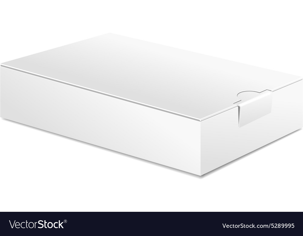 Realistic White Package Box For Software