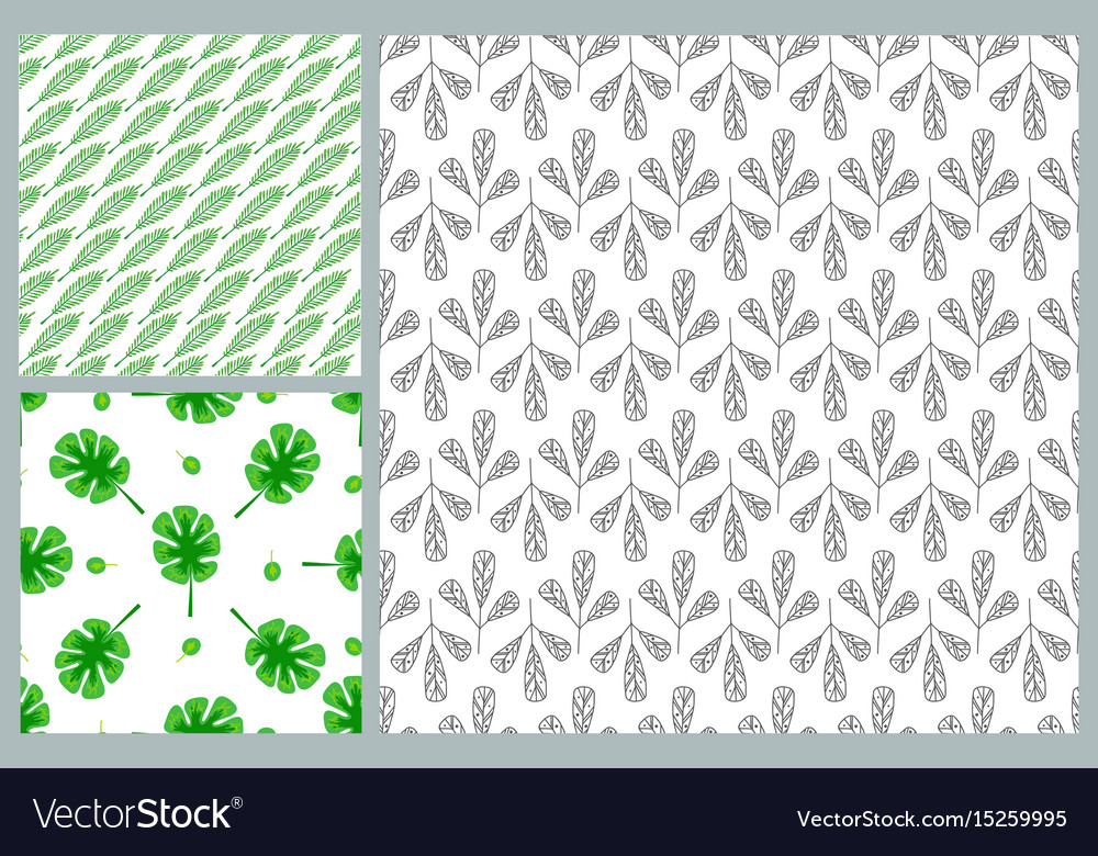 Seamless pattern leaves nature