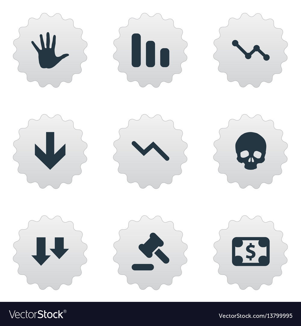 Set of simple crisis icons