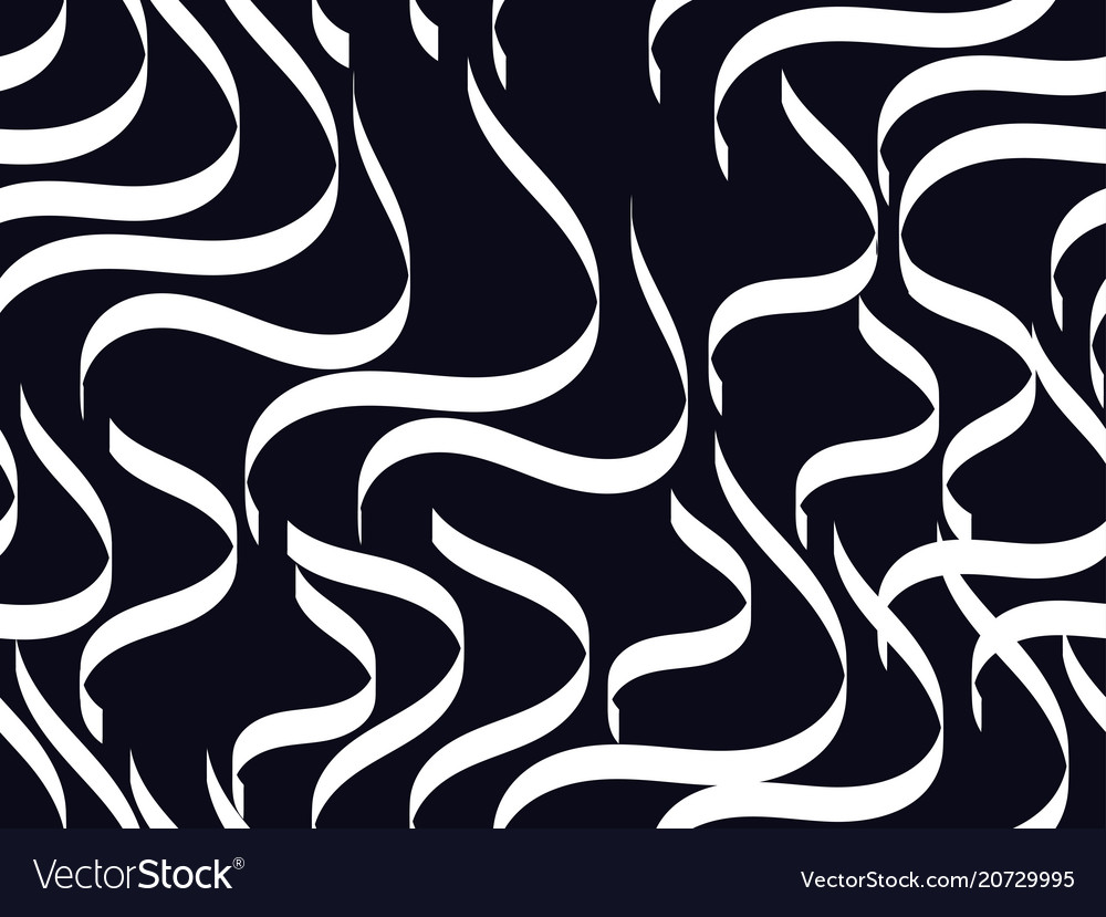 Striped seamless background curves wavy lines