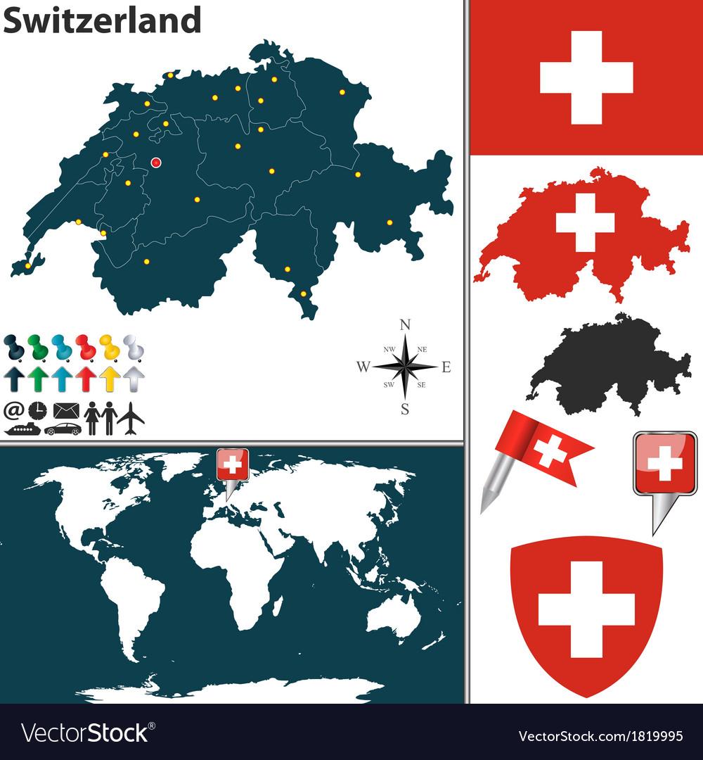Switzerland map world