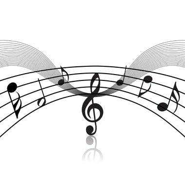 music staff clipart. musical notes clip art