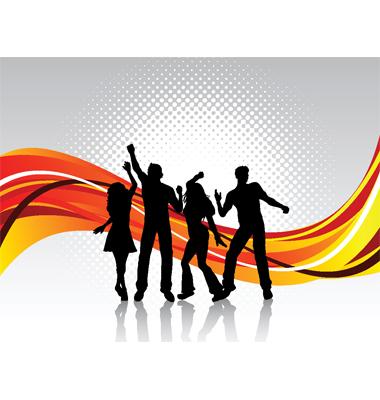 People Dancing Vector. Artist: kjpargeter; File type: Vector EPS