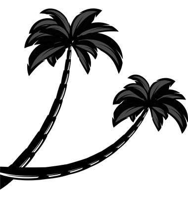 tree silhouette clip art. Palm Tree Silhouette Clip Art