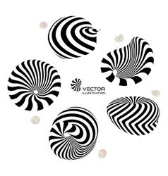 3D design elements or emblems vector