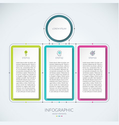 abstract infographic chart with 3 tabs vector image