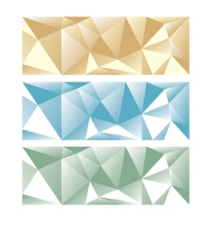 Abstract low poly panoramic backgrond vector