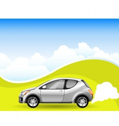 alternative energy car vector image