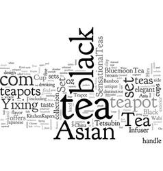 Asian black tea set vector