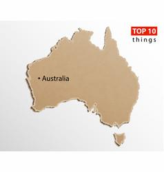 australia map australian maps craft paper vector image