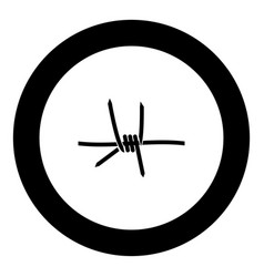 barblock element icon black color in round circle vector image