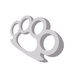 Brass knuckles cartoon icon vector image