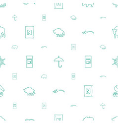Brown icons pattern seamless white background vector