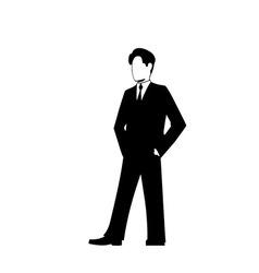 businessman silhouette vector image