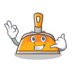 Call me dustpan character cartoon style vector