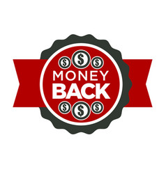 cash back or money return isolated icon special vector image