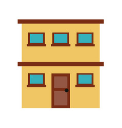 city building with two stories icon imag vector image