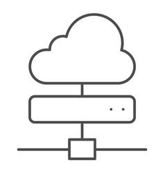 cloud server thin line icon computing vector image