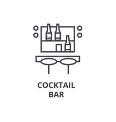cocktail bar line icon outline sign linear vector image