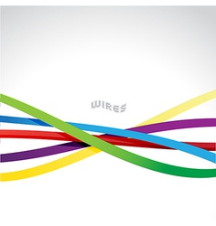 Colorful wires vector image