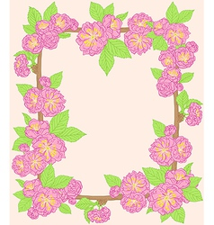Decorative floral frame vector