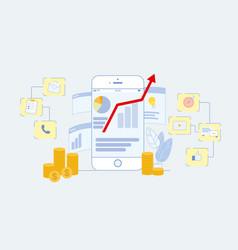 Digital online marketing flat vector