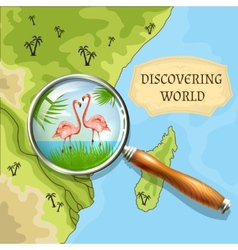 Discovering World Background vector image