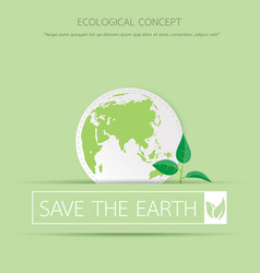 eco sapling on earth vector image