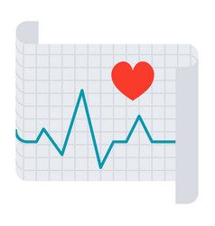 electrocardiography icon vector image