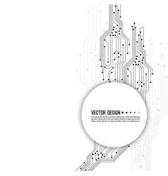 electronic motherboard vector image