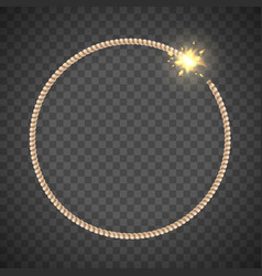 Explosive fuse like a round frame template vector