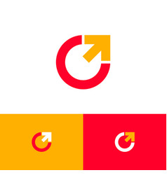 Express delivery logo logistic icon red yellow vector