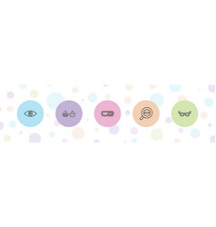 Eyesight icons vector