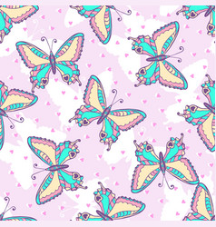 Fashion butterflies pattern for fabric or vector