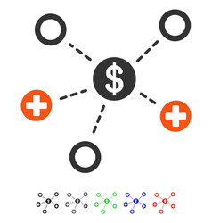 Financial medical relations flat icon vector