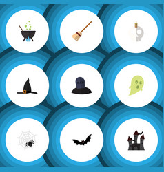 Flat icon festival set of fortress superstition vector