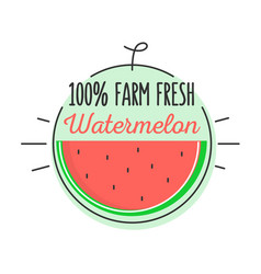 Flat style minimal trendy watermelon bubble price vector