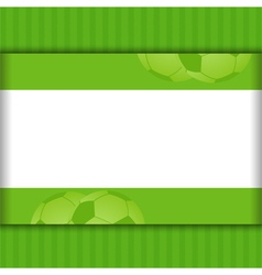 Football border background on green vector