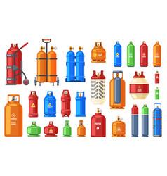 gas steel cylinder tank oxygen propane vector image