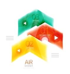 Glass arrows vector
